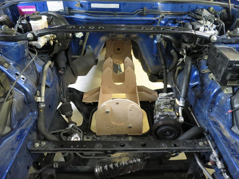 Testfitting The Motor Frame In Engine Bay: Mazda Rx7 Engine Bay Diagram At Jornalmilenio.com